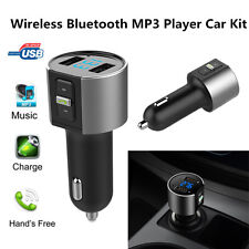 Car Kit Dual USB SD MP3 Music Player Wireless Bluetooth FM Transmitter Radio UK