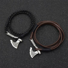 1 Pc Slavic Axe Bracelet Men Pendant Opal Viking Amulet Magic Vintage Jewelry