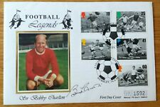 BOBBY CHARLTON MANCHESTER UNITED ENGLAND WORLD CUP WINNER SIGNED FIRST DAY COVER