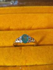 Damen Ring 333er Gelbgold Saphir + Diamant Erbstück wunderschön