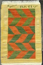 BEAUTIFUL TURKISH RUG, HANDMADE CAUCASIAN FLATWEAVE CARPET (5FT X 3FT) KILIM