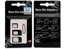 Adaptador 4 En 1 Nano Micro Sim  + Herramienta Extracción - Envío 24/48h Gratis