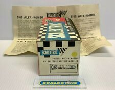 FRENCH SCALEXTRIC Tri-ang 1960s YELLOW ALFA ROMEO 8C C65 (COMPLETE BOX PLUS)