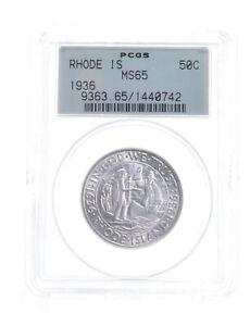 MS65 1936 Rhode Island Commemorative Half Dollar - Graded PCGS *5246