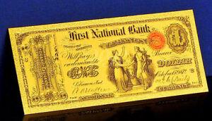 "★ BILLET POLYMER  "" OR "" DU 1 DOLLAR 1875 USA ● DESTOCKAGE ★"
