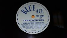 DUKE ELLINGTON Portrait Of The Lion/ Something To Live For EX 78rpm Blue Ace 237