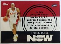 2007-08 Topps Generation Now Lebron James #GN1, Cleveland Cavaliers