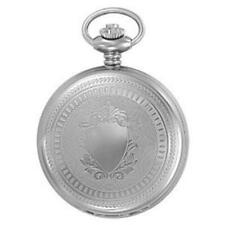 Charles-Hubert- Paris Stainless Steel Quartz Hunter Case Pocket Watch #3599-B