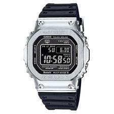 Casio G-Shock Metal Case GMWB5000-1 Silver/Black Bluetooth Multi-6 Solar Power