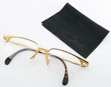 Cazal Glasses 765 Col. 973 Vintage Half-Rim Eye Frame Gold Stripes Cari Zalloni