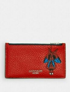 Coach Marvel X Leather Spider-Man Zip Card Case Style 1857 Limited Edition NWT
