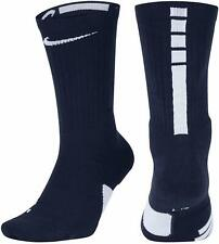 NIKE Kid's Elite Cushioned Basketball Crew Socks Small (3Y-5Y) Navy Blue White