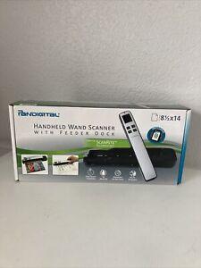 Pandigital Handheld Wand Scanner With Feeder Dock (BLUE) New Sealed Box