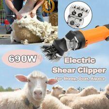 110V 690W Electric Shearing Clipper Shear Sheep Goats Alpaca Farm Shears Orange