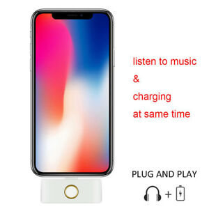 Creative For iPhone X 8 7 External HOME Button + Audio Jack USB Charging Plug