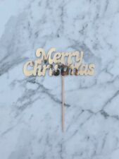 Merry Christmas gold Cake topper 5 inches