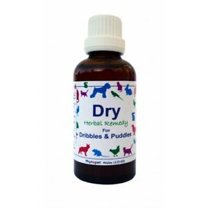 Phytopet Herbal Remedies Dry 100ml Dog Cat Incontinence dribbles & puddles