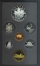 1994 Canada Double Dollar Proof Set Silver $1 Last RCMP Dog Team COA Box