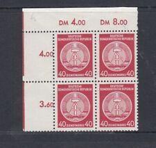 DDR Dienst - Michel-Nr. 25x IXI Viererblock ** postfrisch