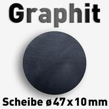 Graphitscheibe ø 47 x 10 mm Ronde Scheibe Graphit Carbon Kohlenstoff Platte rund