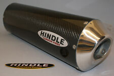 "Hindle 16"" long for 2"" pipe, Oval Carbon Fiber Muffler Stealth Left-753S-1620CFL"