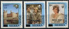 Sierra Leone 1982 Royal Baby Birth MNH Surch Set #A90453