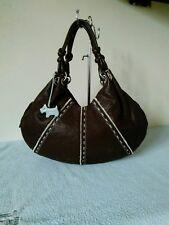 Radley Ladies Leather Dark Brown Grab Shoulder Hand Bag With Coin Purse #25