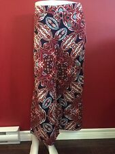 JULES & LEOPOLD Women's Colorful Rayon Cropped Pants - Size Small - NWT