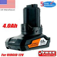 4.0Ah For RIDGID R82059 AC82059 AC82049 130220001 L50 12V Li-ion HYPER BATTERY