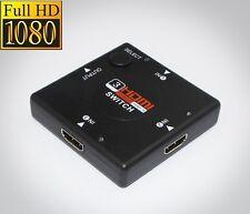 3 puertos HDMI Switch Conmutador Distribuidor Adapter 3 en 1 Fuera 3x1