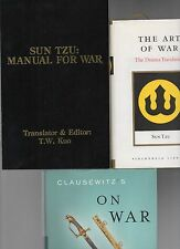 SUN TZU ART OF WAR & MORE CLAUSEWITZ ON WAR STRACHAN 3 BOOK LOT MILITARY HISTORY