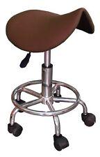 TABOURET ergonomique selle marron roulettes télescopique réglable pivotant VIALA
