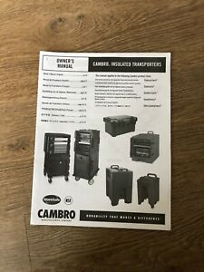 Cambro insulated Transporters Owners Manual