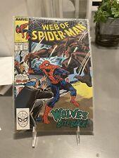 Web of Spider-Man #51 (Jun 1989, Marvel) Wolves Bite Back Nm+