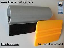 Kit de 2 outils pour la pose de film teinté ou film solaire sur vitre automobile