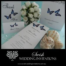 Blue Butterflies Wedding Invitations & Stationery - Samples Invites ONLY $1