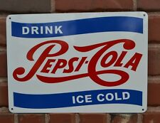 PEPSI Nostalgic Vintage Look Soda Fountin Bar Sign Collectable Free Shipping