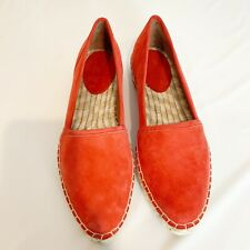 Frye Flat Espadrille Coral Suede Slip on shoes Size 6