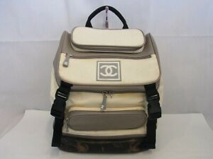 Auth WC04 CHANEL sports line backpack with serial seal junk from Japan