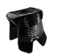 Lego 2 Stück schwarze Brustpanzer Aufdruck Skorpion silber 2587pb15 Vladek Neu