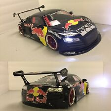 Fully Custom 1/10 Scale Remote Control On-road Drift Car AUDI R8 Red Red