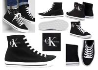 Scarpe da uomo Calvin Klein B4S0671 estive casual alte da passeggio in tela nero