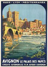 Avignon le Palais des papiers, 1920, Roger de Broders, vintage french travel poster