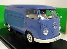 Nex 1/18 Scale 18053W 1963 Volkswagen T1 Bus Panel van Blue Diecast model van