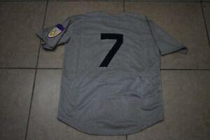 New!! Mickey Mantle New York Yankees Gray Heavyweight Baseball Jersey Men's XXXL