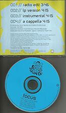 DEF SQUAD w/ DJ QUIK & XZIBIT Focus ACAPPELLA & INSTRUMENTAL PROMO CD Single