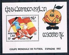 Laos; fútbol WM 1982, bloque postfr. **