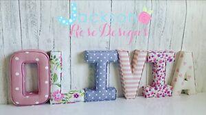 Nursery Fabric Letters Wall Art Handmade name, personalised, girl, boy,padded