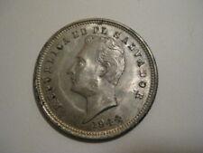 EL SALVADOR SILVER COIN 25 Centavos, XF 1944