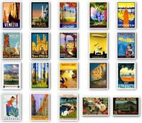 Vintage Style Travel Postcards